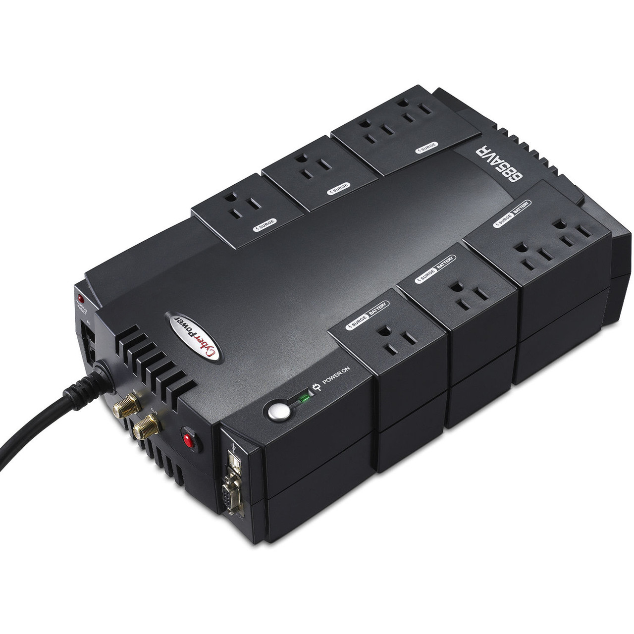CyberPower CP685AVR-G-R 685VA/390W Compact Uninterruptible Power Supply - Certified Refurbished