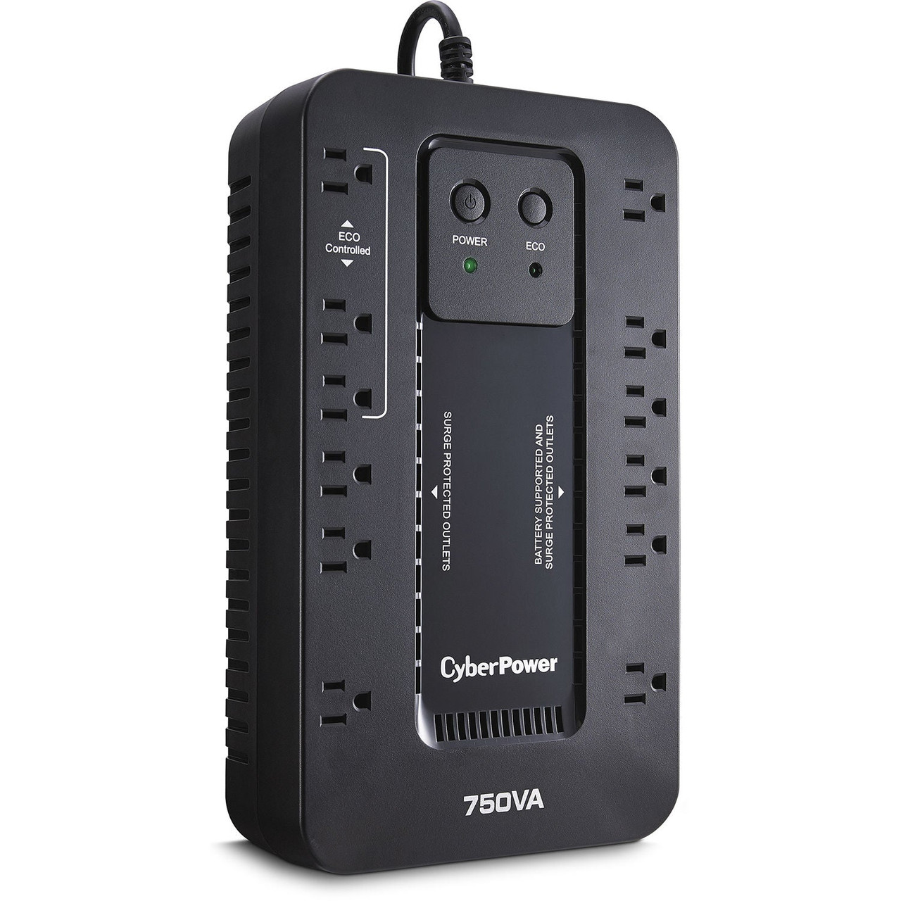 CyberPower EC750G-R 750VA/450W 12 Outlets Ecologic Series Uninterruptible Power Supply - Certified Refurbished