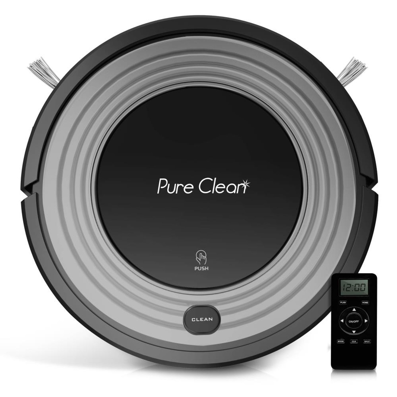 Pure Clean PUCRC96B Smart Robot Vacuum - Automatic Floor Cleaner with Mop Sweep Dust & Vacuum Ability