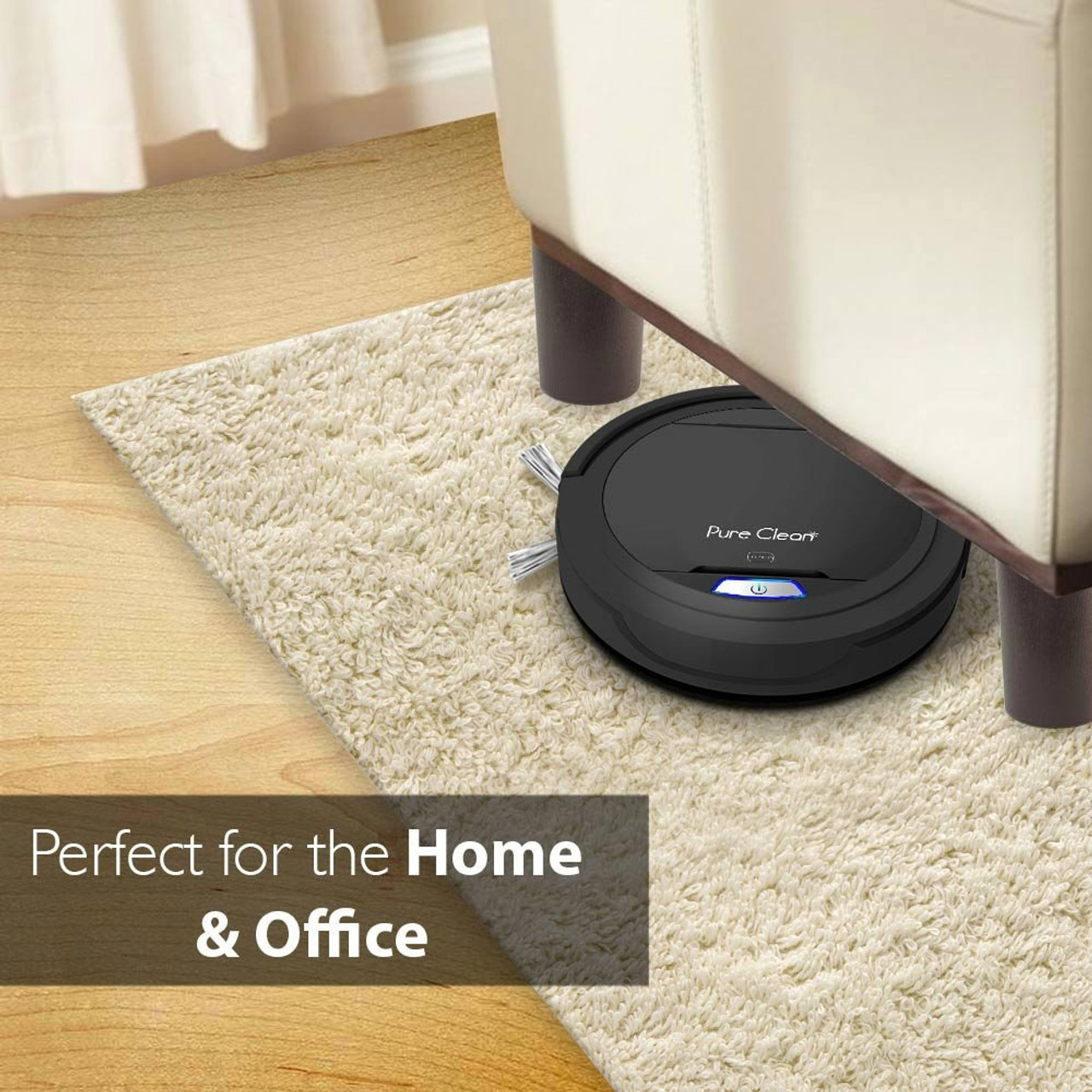 Pure Clean PUCRC26B Smart Vacuum Cleaner - Automatic Robot Cleaning Vacuum