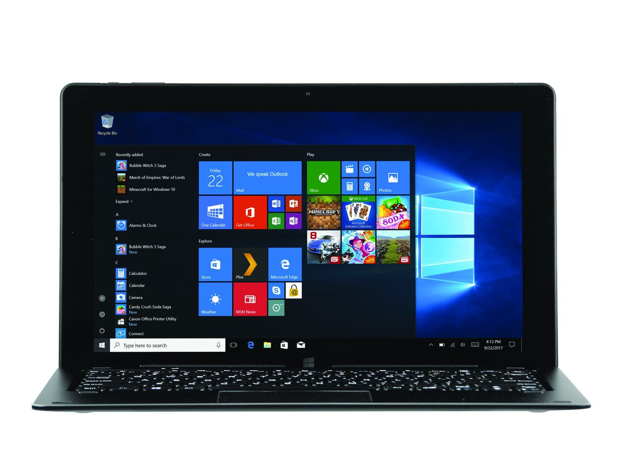 NuVision TM116W725L Duo 11, 11.6 inch 2 in 1 Tablet \u0026 Laptop with Windows 10
