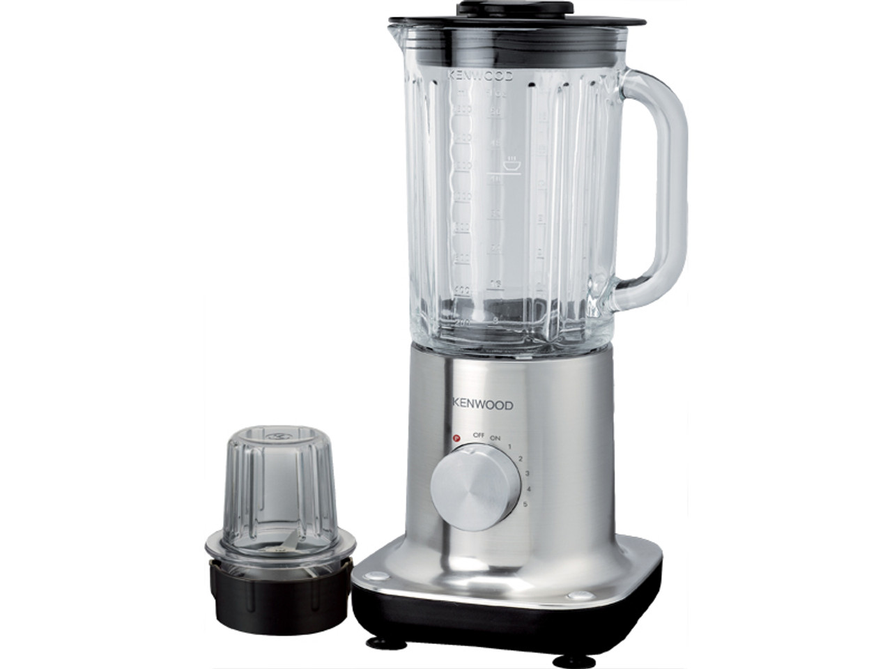 Kenwood BL705 ThermoResist Blender Brushed Stainless 5-Speed + Pulse 480W with Glass Goblet
