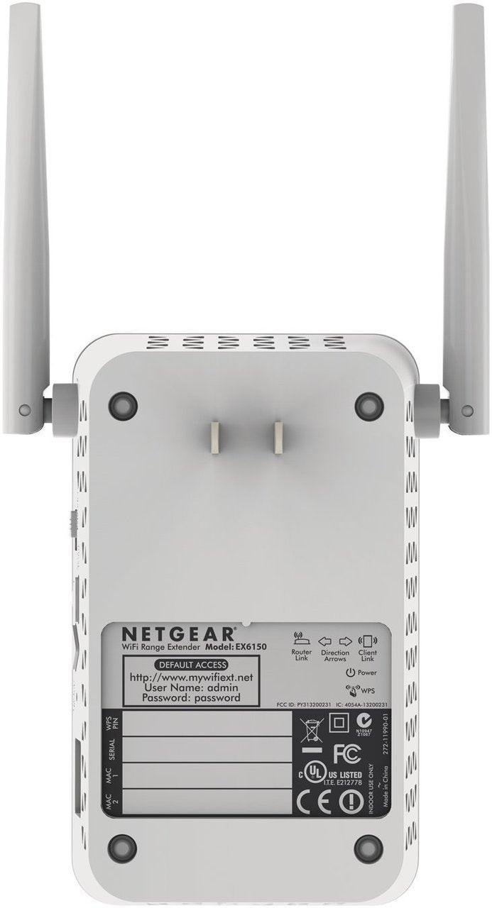 Netgear EX6150-100NAR AC1200 Wi-Fi Range Extender - Dual Band  -Certified Refurbished