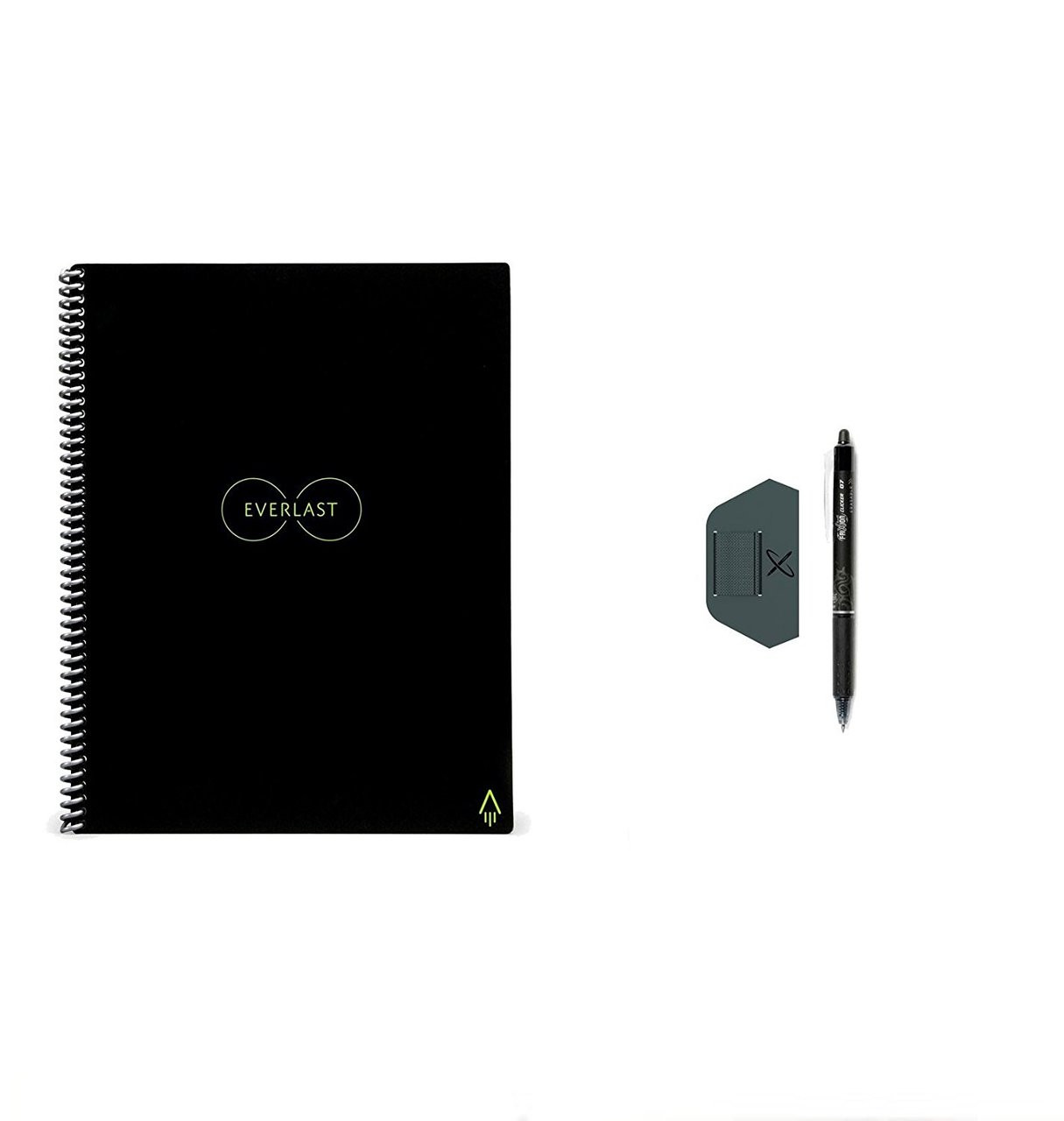 Rocketbook EverLast Letter - Smart Erasable, Reusable Wirebound Notebook with PenStation - Letter Size