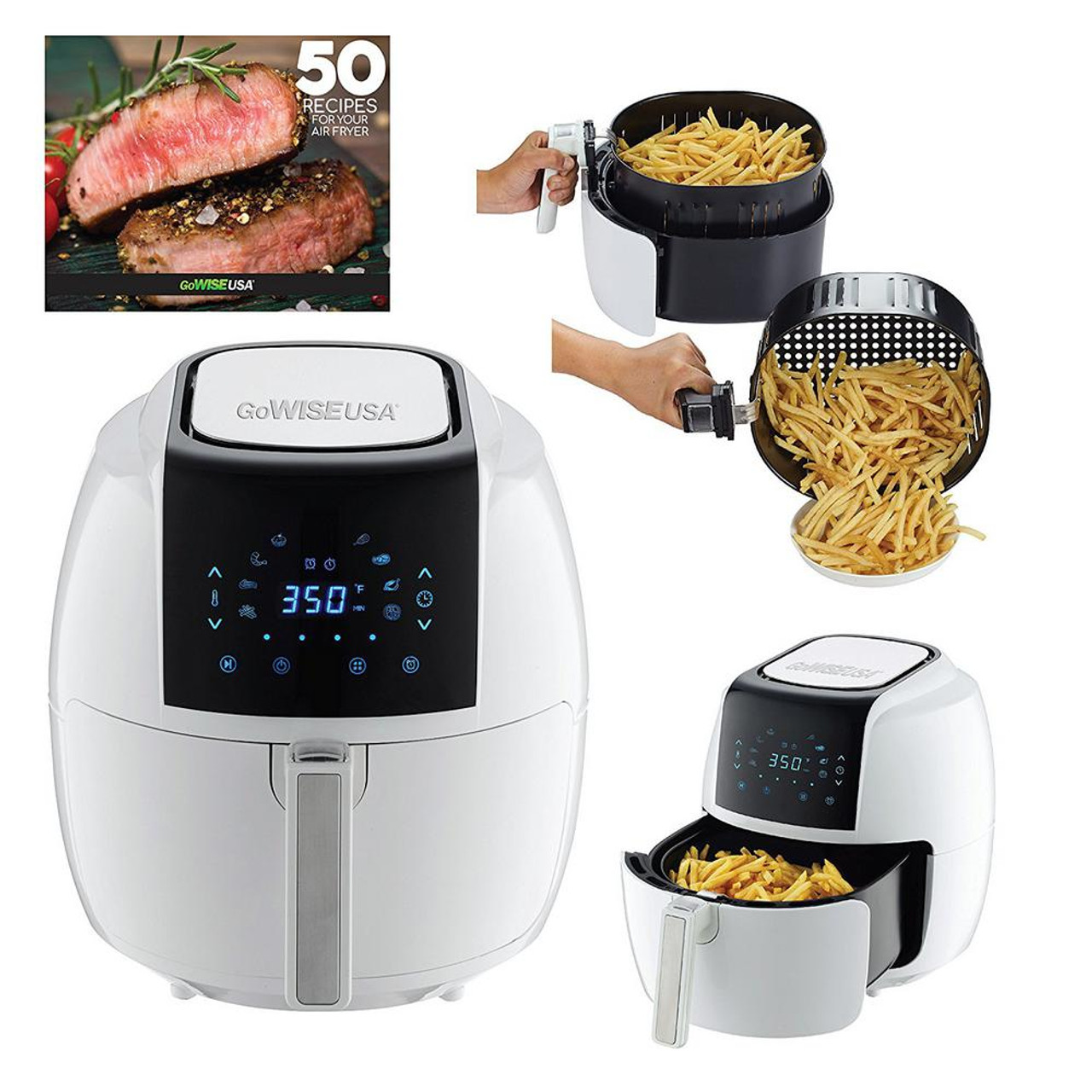Gowise Air Fryer - (3.7, or 5.8 Qt) and in either (Black, Red, or White)