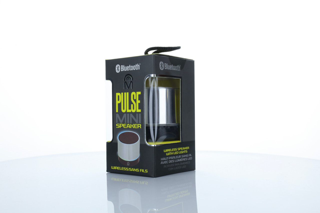 Pulse Mini Bluetooth Speaker - 2-Pack - Black, Silver or Gold
