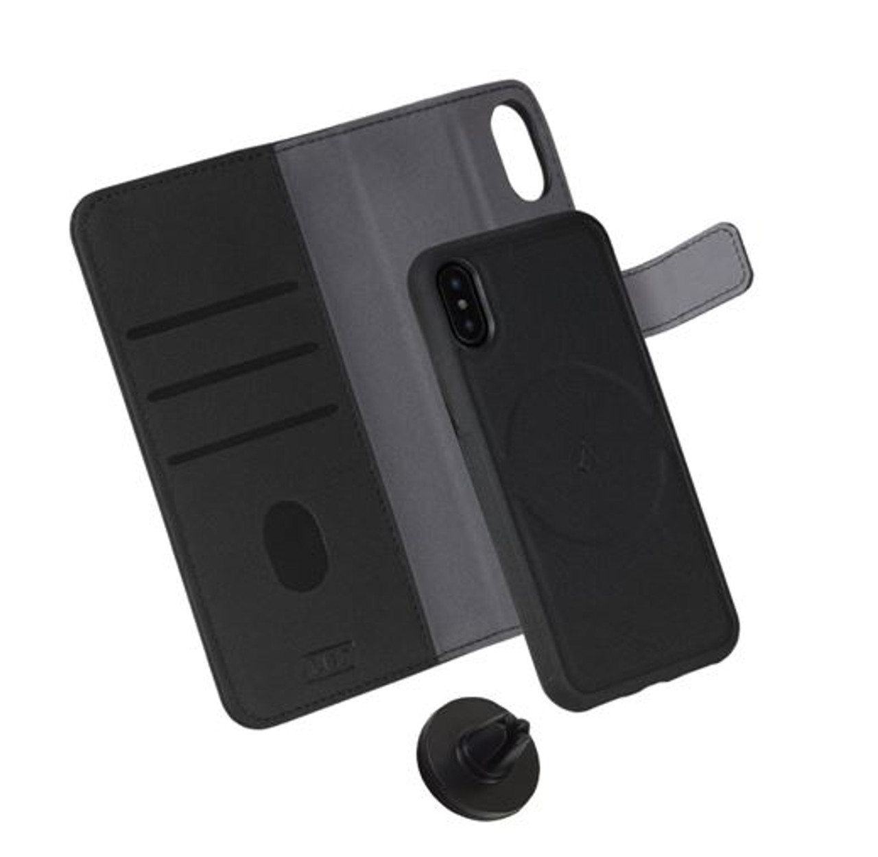 LBT Switch Wallet Cell Phone Case - Black - Your Choice: Samsung S9 & iPhone 6/7/8/8 Plus/X