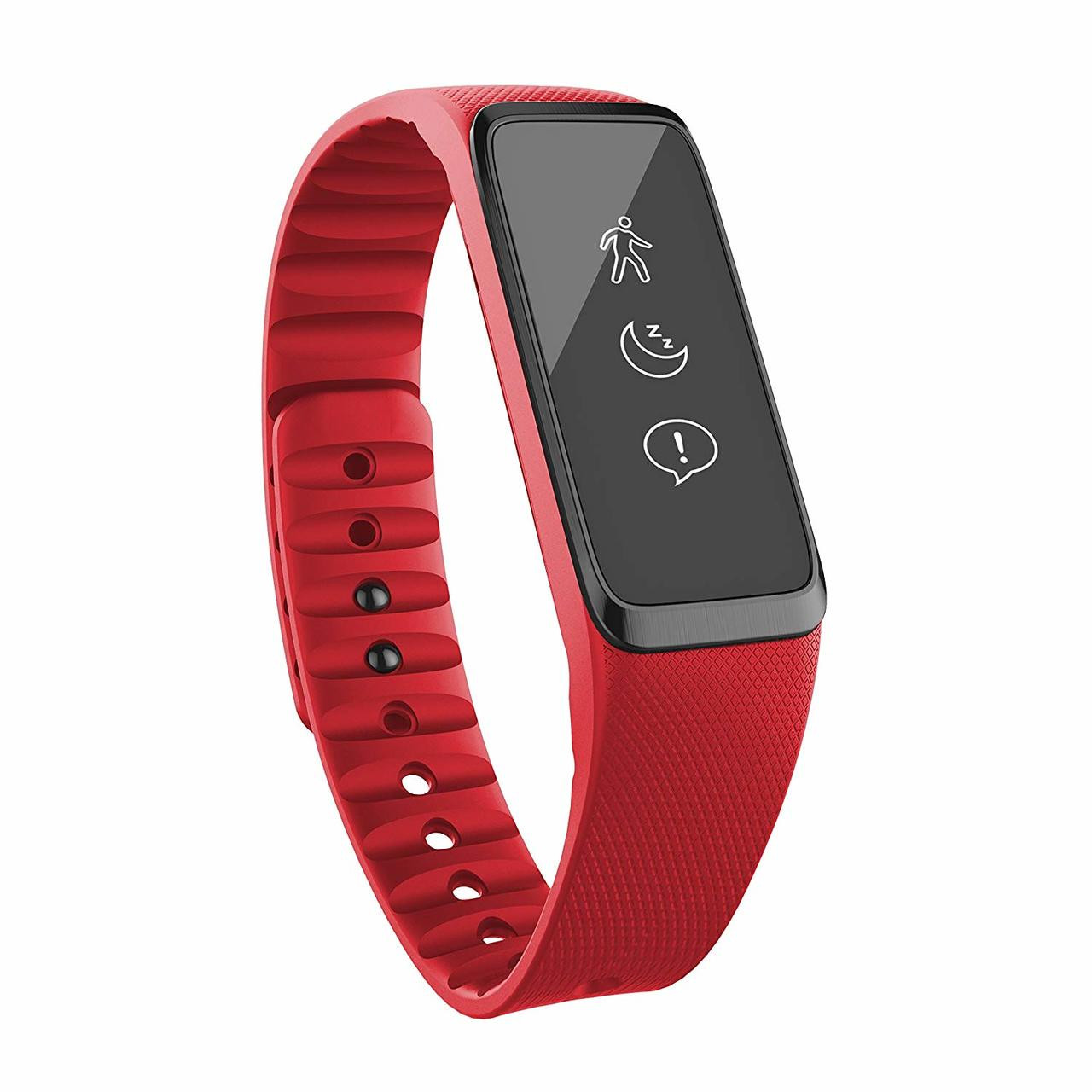 Striiv Fusion Activity Tracker - Fitness and Sleep Tracking Smartwatch, 3 Color Bands Included (Black, Red, Blue)