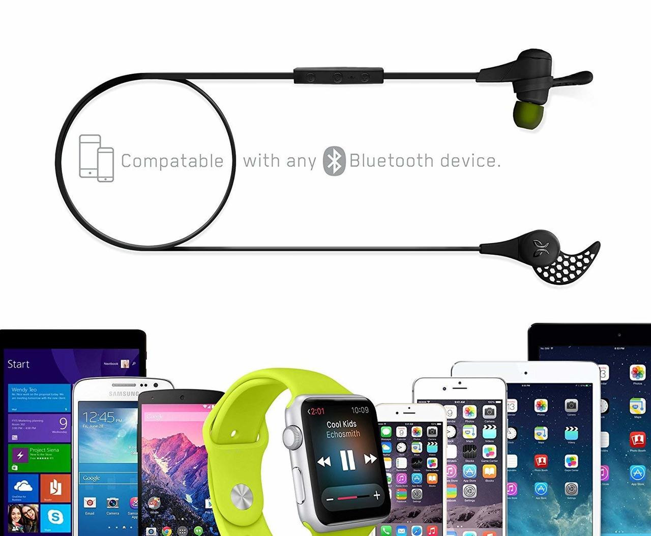 JayBird X2-BLK-RB Black Sport Wireless Bluetooth Earbuds with Carrying Pouch - Refurbished