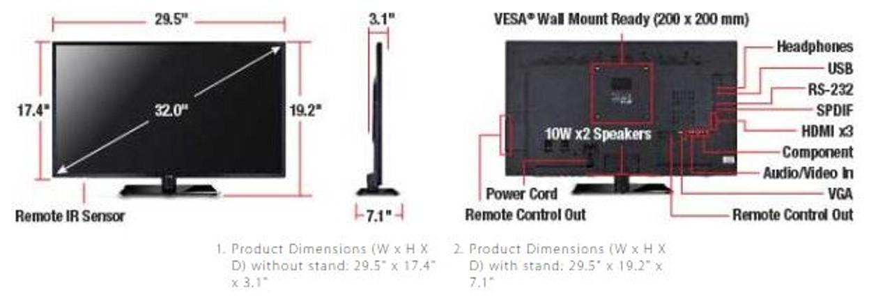 "ViewSonic CDE4200-L-R 42"" Commercial LED Display - C Grade Refurbishe"