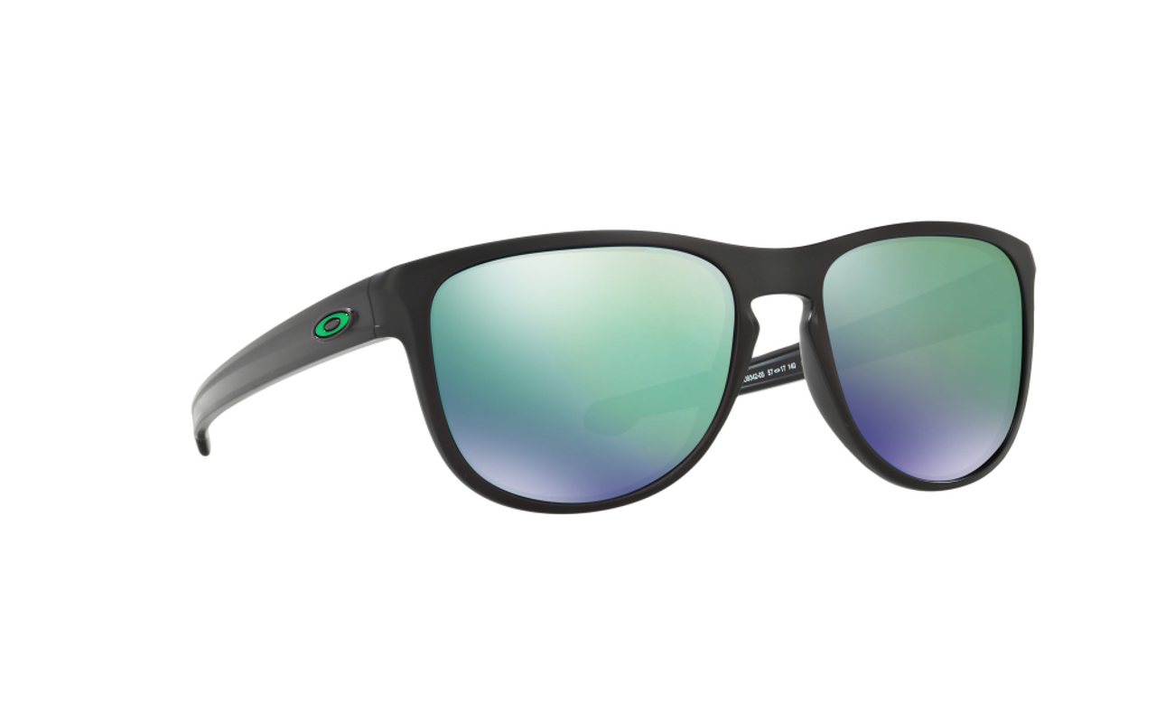 Oakley OO9342-05 Mens Sliver™ Round Matte Black Frame / Jade Iridium Mirrored Lenses Sunglasses - Brand New