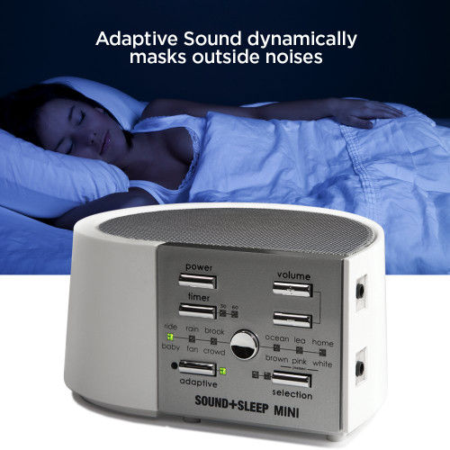 LectroFan ASM1014-RB Mini High Fidelity Sleep Sound Machine with AC, Real Nature Sounds - Certified Refurbished - White