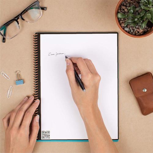 Rocketbook EVR-L-K-CCE Everlast Smart Reusable Notebook with Pen and Microfiber Cloth, Letter Size, Light Blue