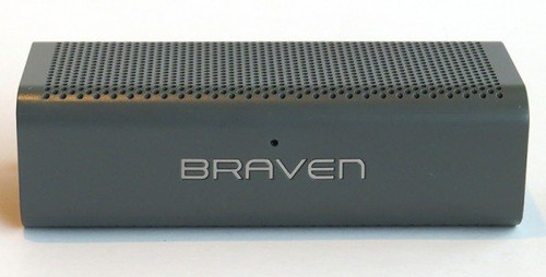 BRAVEN 705 Portable Wireless Bluetooth Speaker /Power Bank Charger-GRAY