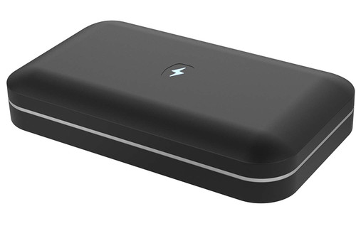 PhoneSoap 2.0 UV Sanitizer and Universal Phone Charger Now Fits iPhone 6S Plus and Phablets – Black
