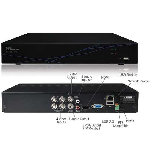 Night Owl's TL-DVR4-R 4 Channel 960H Video Security System with HDMI and Free Night Owl Lite App - Certified Refurbished