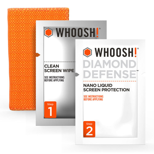 WHOOSH 1FGDDENFR Diamond Defense - Superior Nano Liquid Screen Protector Wipe, Easy Application, No Bubbles/Streaks, Hardens Glass - Fits All Screens ;Phones or Tablets