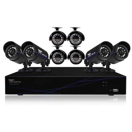 Night Owl TL-88-R-PF 8 Channel 960h DVR HDMI 500 GB HDD 8 X 480 TVL Cameras