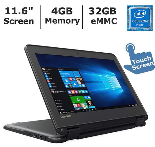 "Lenovo N22 80SF0001US-RB 12"" Chromebook Intel Celeron N3050 (1.60 GHz) 4 GB Memory 16 GB eMMC 11.6"" Chrome OS - Refurbished"