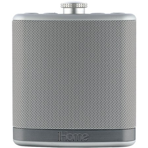 iHome IBT12SC Rechargeable Flask Shaped Bluetooth Speaker Silver
