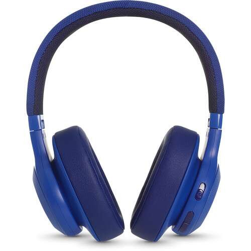 JBL JBLE55BTBLU-Z Bluetooth Headphones, Blue – Certified Refurbished