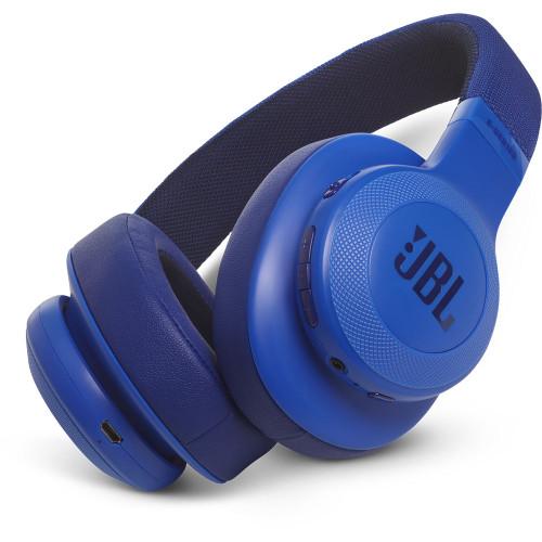 JBL JBLE55BTBLU-Z Bluetooth Headphones, Blue – Certified Refurbished