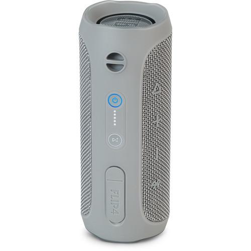 JBL JBLFLIP4GRYAM-Z Flip 4 Waterproof Portable Bluetooth Speaker Gray- Certified Refurbished