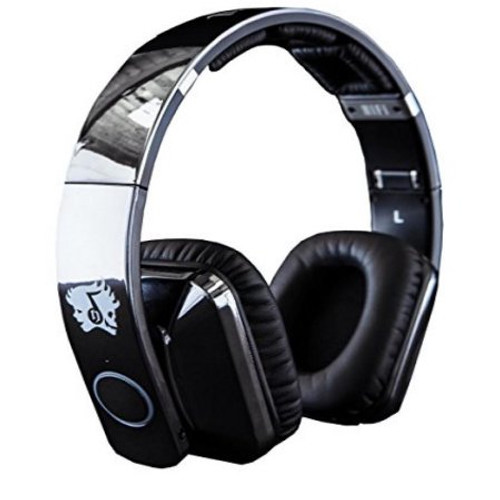 Life N Soul 8 Driver BE501-Co Bluetooth Wireless Rechargeable Over-Ear Stereo Headphones, Chrome