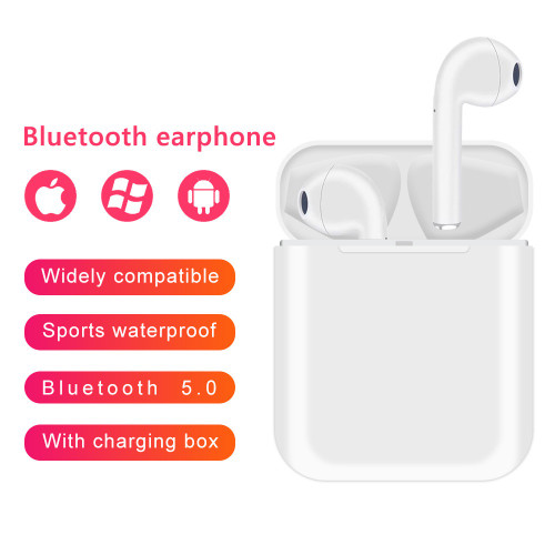AirPlus AIR-i12 Wireless Bluetooth Earphone with Shockproof Protective Silicone Case - Choose Color