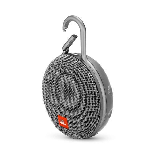 JBL JBLCLIP3GRY-Z Clip 3 Portable Bluetooth Speaker-Gray -Waterproof Wireless- Certified Refurbished