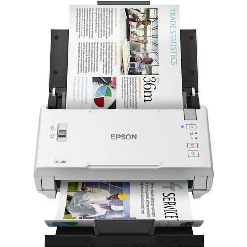 Epson B11B249201-RB Document Scanner WorkForce DS-410 White - Certified Refurbished