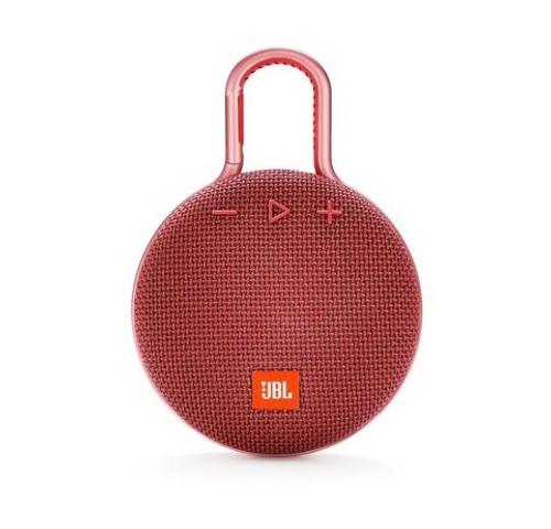 JBL JBLCLIP3REDAM-Z Clip 3 Portable Bluetooth Speaker Red - Certified Refurbished