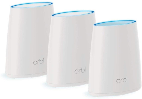 NETGEAR RBK43-200NAR Orbi 3 Piece Home Mesh WiFi System- Certified Refurbished