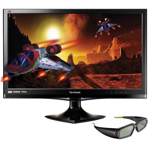 "ViewSonic V3D245-S 24"" 3D-Ready LED-Backlit Widescreen LCD Monitor - Certified Refurbished"
