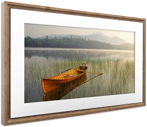 "Netgear MC321HW-100PAS 21.5"" Meural Canvas II Smart Art Frame, Walnut"