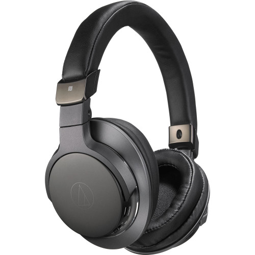 Audio-Technica ATH-SR6BTBK Bluetooth Wireless Over-Ear High Resolution Headphones with Mic & Control - Black