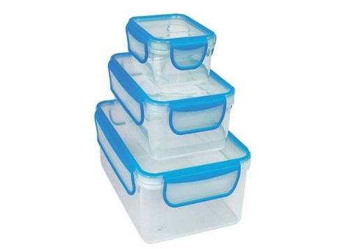 Diamond Home 10406 3-Piece Nested Containers Rectangle - Blue, Green or Pink