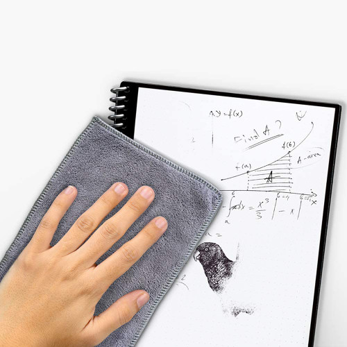 Rocketbook EVRF-E-K-CIG Fusion Smart Reusable Notebook with Pen and Microfiber Cloth, Executive Size, Space Gray