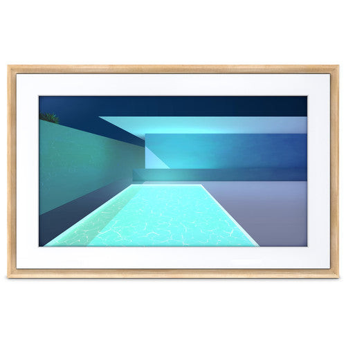 "Netgear MC321LW-100PAS 21.5"" Meural Canvas II Smart Art Frame, Light Wood"