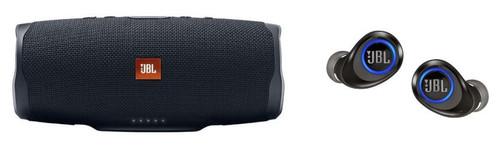 JBL Charge 4 Speaker Free X Headphones Bundle Black, JBLCHARGE4BLKAM-Z - JBL JBLFREEXBLKBTAM-Z - Certified Refurbished