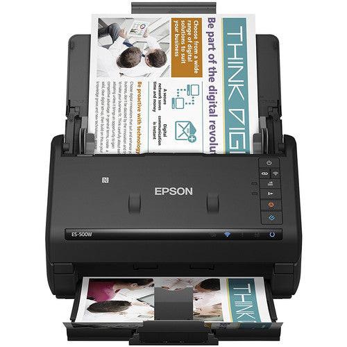 Epson B11B228201-RB WorkForce ES-500W Wireless Duplex Document Scanner - Certified Refurbished