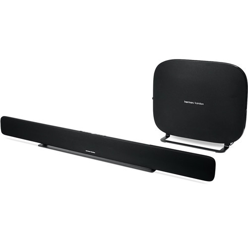 Harman HKOMNIBARPLBLK-Z Kardon Omni Bar+ 120W Virtual 5.1-Channel Soundbar System, Black – Certified Refurbished