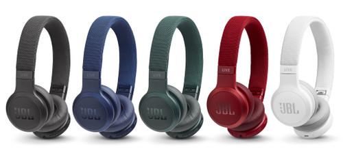 JBL JBLLIVE400BTBUAM-Z LIVE 400BT Wireless On-Ear Headphones, Blue – Certified Refurbished