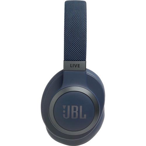 JBL JBLLIV650BTNCUAM-Z LIVE 650BTNC Wireless Noise-Canceling Headphones, Blue – Certified Refurbished