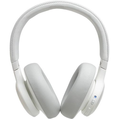 JBL JBLLIV650BTNCWAM-Z LIVE 650BTNC Wireless Noise-Canceling Headphones, White – Certified Refurbished
