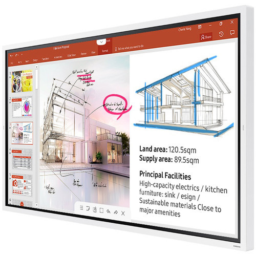 "Samsung LH65WMRWBGCXZA-RB 65"" Samsung Flip 2.0 Interactive UHD Monitor - Certified Refurbished"