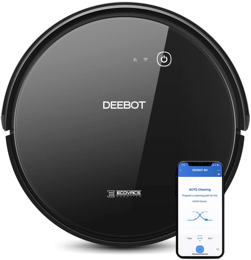 Ecovacs DEEBOT661-RB Convertible Vacuuming or Mopping Robotic Vacuum Cleaner