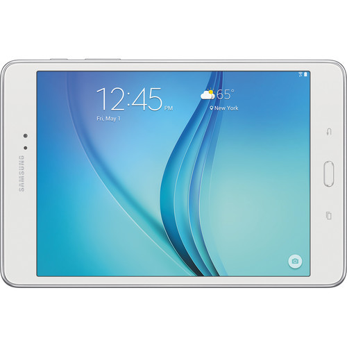 "Samsung SM-T350NZWAXAR-RB 8.0"" Galaxy Tab A 16GB Wi-Fi Android Tablet, White - Certified Refurbished"