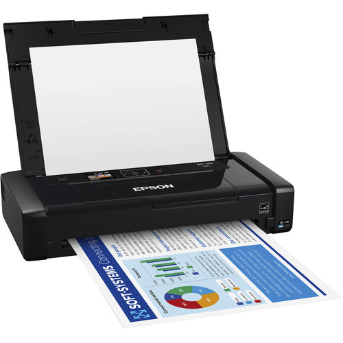 Epson C11CH25201-RB WorkForce WF-110 Wireless Mobile Inkjet Printer - Certified Refurbished