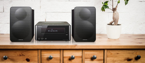 Onkyo OCS265B CD Hi-Fi Mini Bluetooth Home Audio System, Black